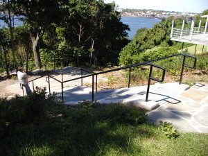 SINGLE LINE CUSTOM POWDER COATED HANDRAIL