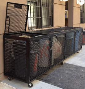 apartment garbage enclosure