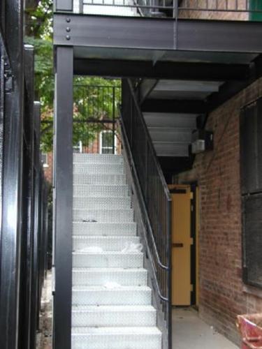 Diamond plate galvanized staircase