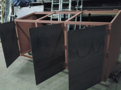 Garbage bin fabrication steel beam
